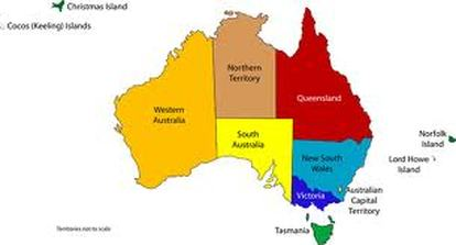 Map Of Australia Before Federation.Comparing Maps Of Australia Australian Federation